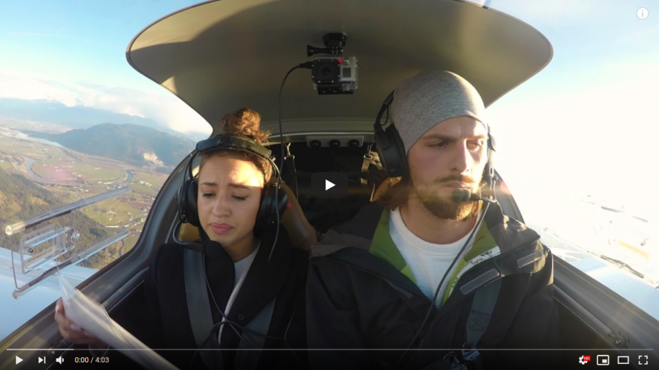 Best airplane Marriage proposal. Engine failure
